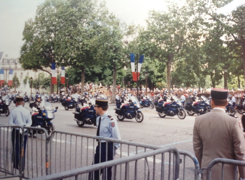Bastille Day parade, Paris, July 1995. [Photo by me.]