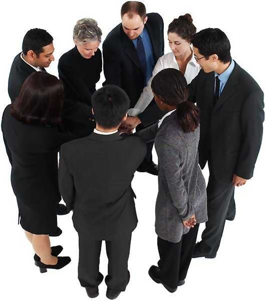Free Stock Photo: Group of business people.