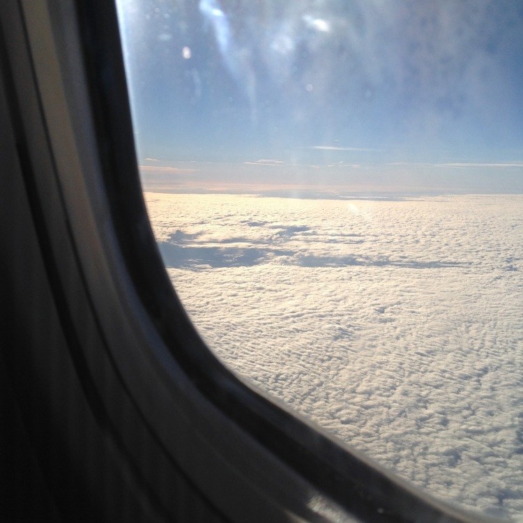 In the air over the Irish Sea. [Photo by me, October 2016.]