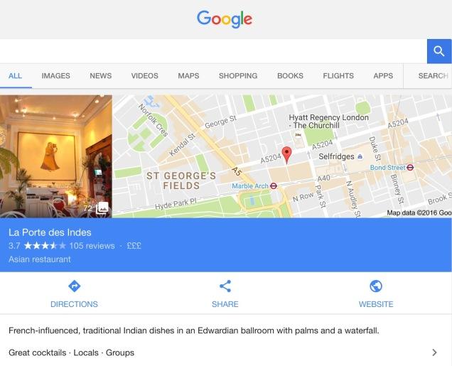 Screen capture of Google.