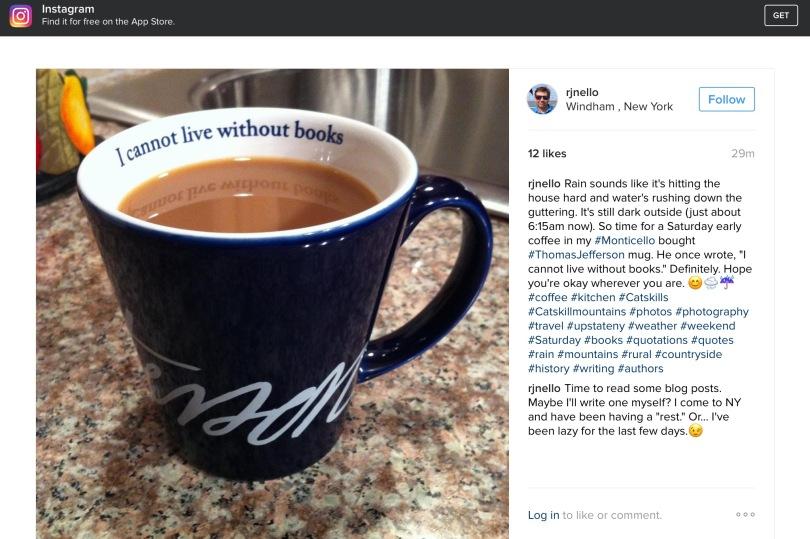 Screen capture of my Instagram.