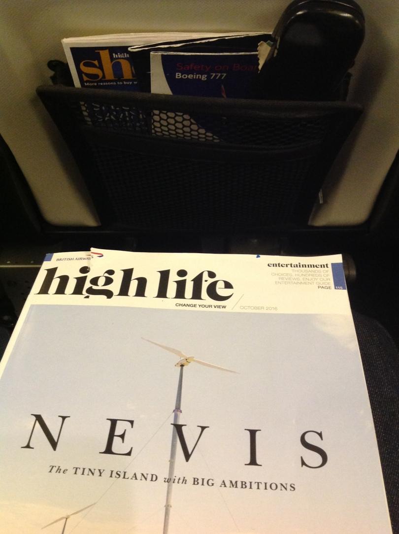 British Airways Highlife magazine, October 2016. [Photo by me, 2016.]