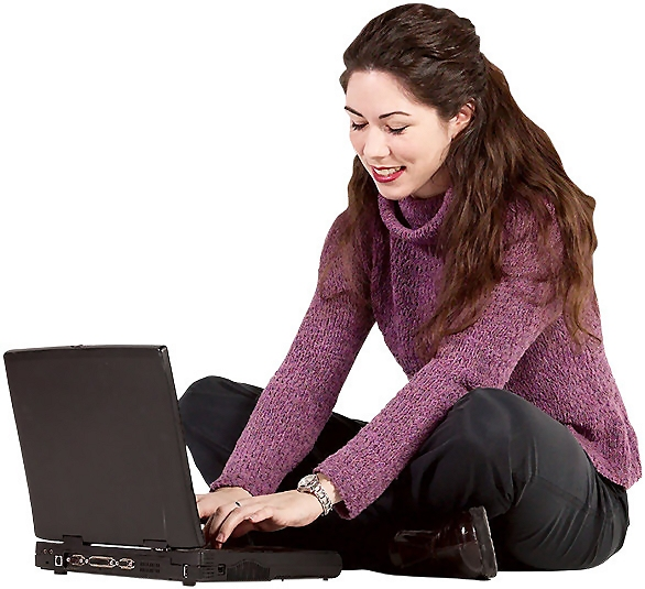 Free Stock Photo: Girl working on a laptop.