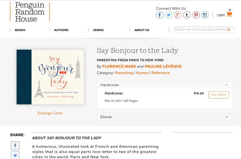 Screen capture of Penguin Random House site.