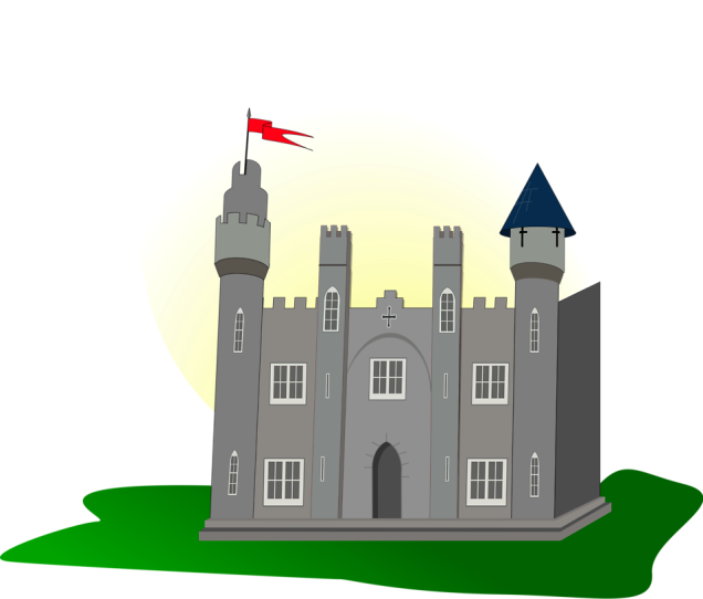 Free Stock Photo: Illustration of a medieval castle.