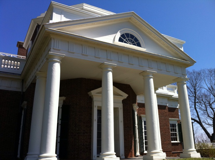 Monticello, home of Thomas Jefferson. [Photo by me, 2011.]