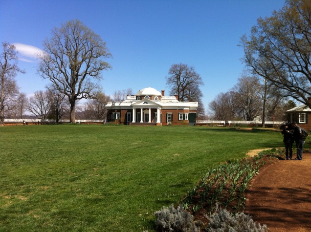 Monticello, home of Thomas Jefferson, outside Charlottesville, Virginia. [Photo by me, 2011.]