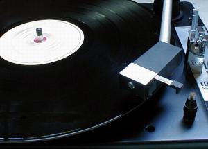 Free Stock Photo: Closeup of a record player.