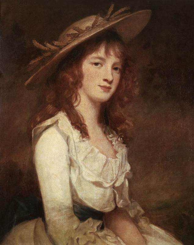 George Romney, portrait of Miss Constable, 1787. [Wikipedia. Public Domain.]