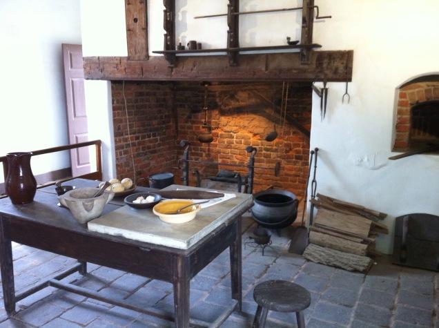 Mount Vernon's kitchen. [Photo by me, 2011.]