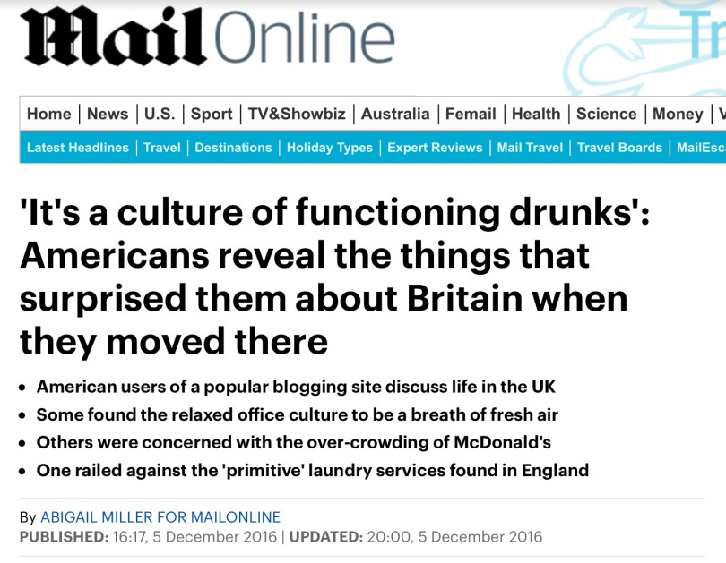 Screen capture of the Daily Mail.