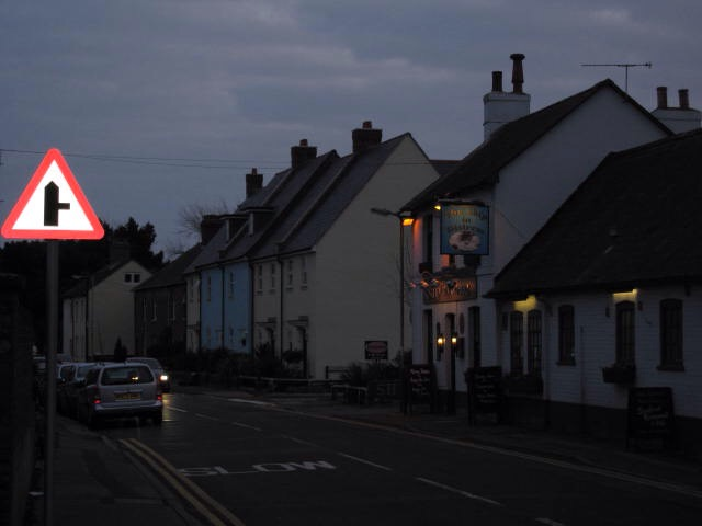 Dorset street scene, not far from where we once lived, about an hour and a half from London. [Photo by me, 2007.]
