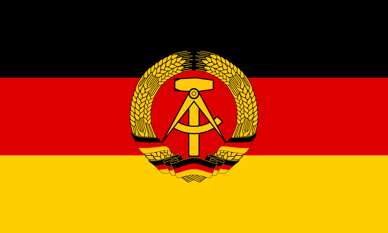 Flag of East Germany, 1949-1990.