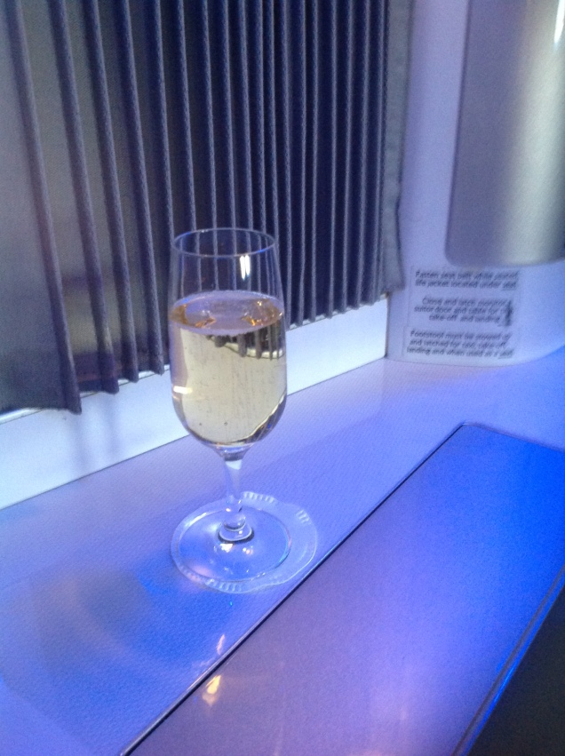 Champagne at the seat. (Photo by me, 2016.)