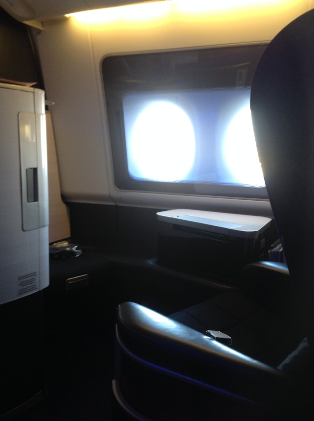 The window seat across aisle - empty for the flight. (Photo by me, 2016.)