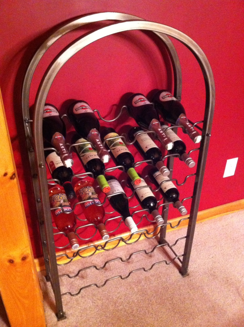 Wine rack. [Photo by me, 2016.]