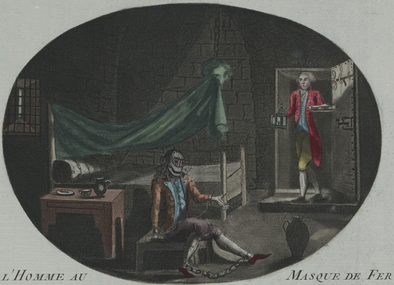 """The Man in the Iron Mask."" Anonymous print, 1789. [Public Domain. Wikipedia.]"