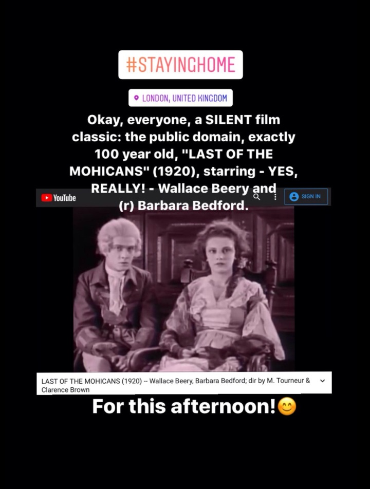 Today At The SilentMovies